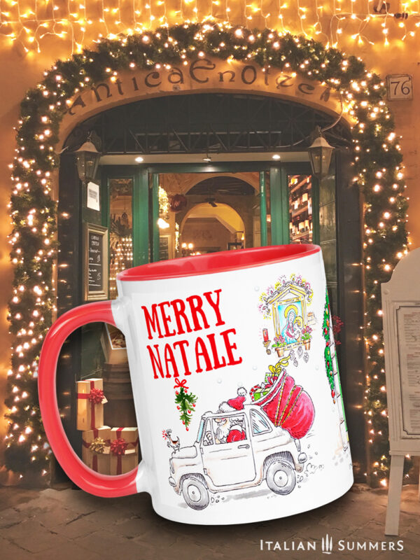Christmas mug Merry Natale by Italian Summers