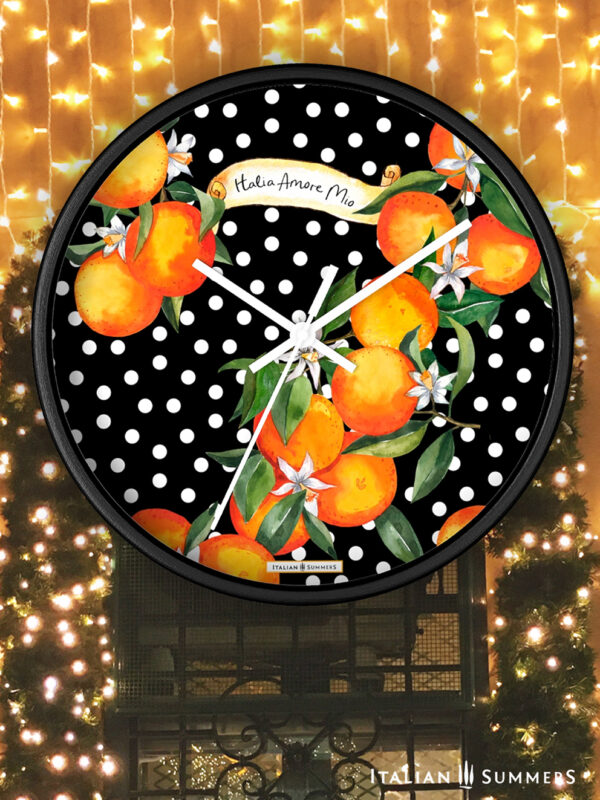 Wall Clock Sicilian Garden by Italian Summers
