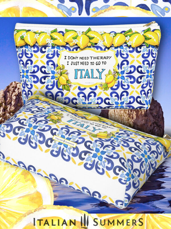 Clutch I DONT NEED THERAPY JUST ITALY by Italian Summers