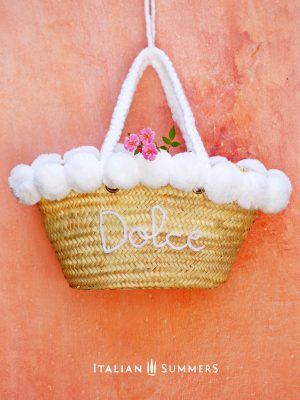 DOLCE BIANCA Straw bag by Italian Summers