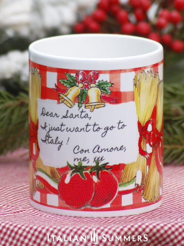 DOLCE SPAGHETTI Italian Christmas coffee mug by Italian Summers