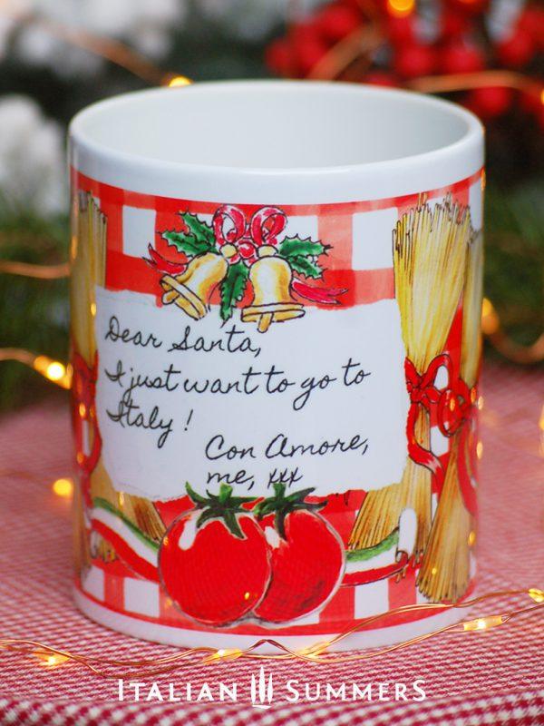 Italian Christmas mug DOLCE SPAGHETTI by Italian Summers