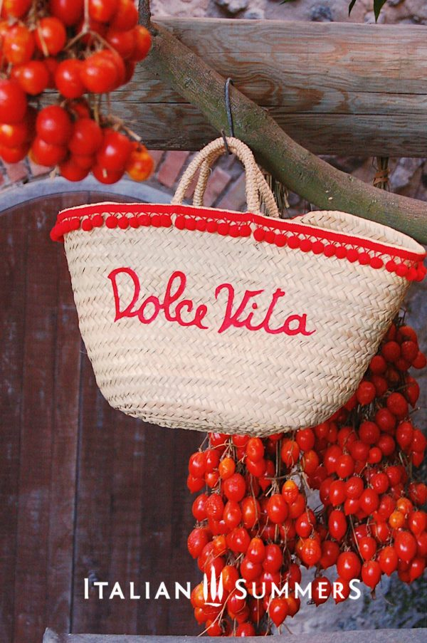 Dolce Vita Straw bag customized by Italian Summers. All rights reserved