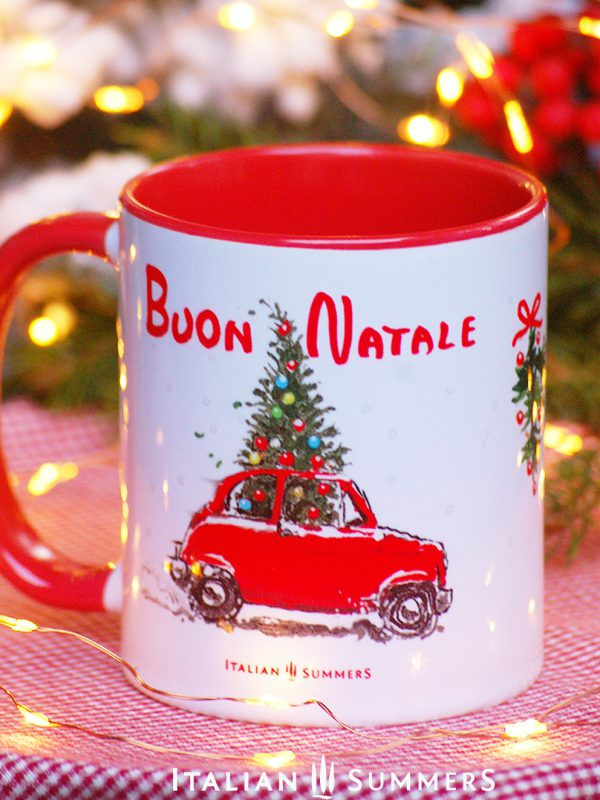Italian coffee mug FIAT 500 CHRISTMAS TREE