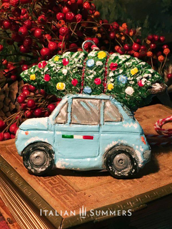 Christmas Ornament BLUE CINQUECENTO by Italian Summers