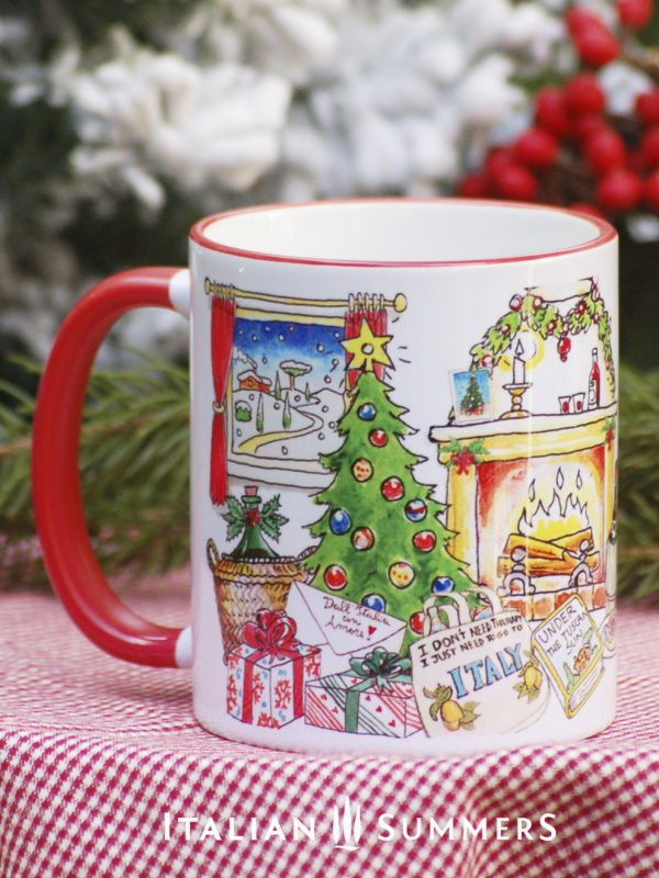 I JUST WANT TO GO TO ITALY Italian Christmas coffee mug by Italian Summers