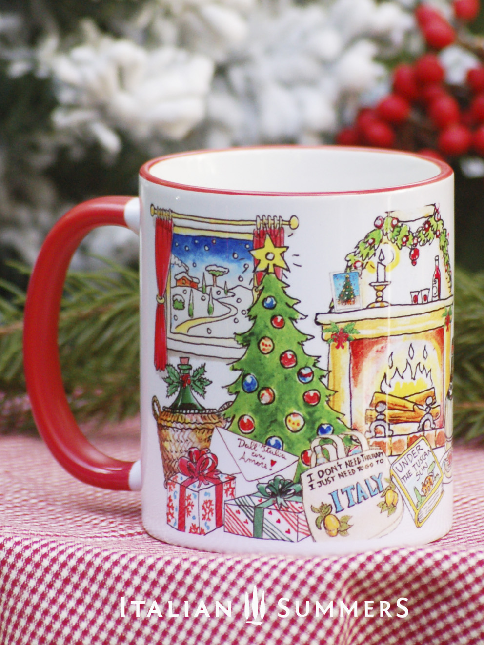 Italian Christmas Mug I Just Want To Go To Italy Your Favorite Quote