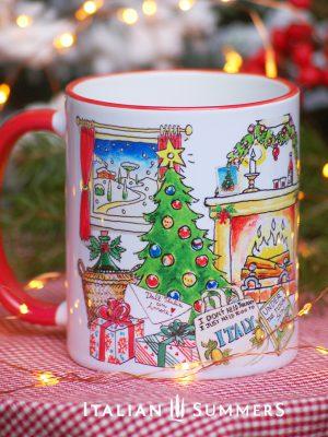 Italian Christmas mug JUST WANT TO GO TO ITALY by Italian SummersI