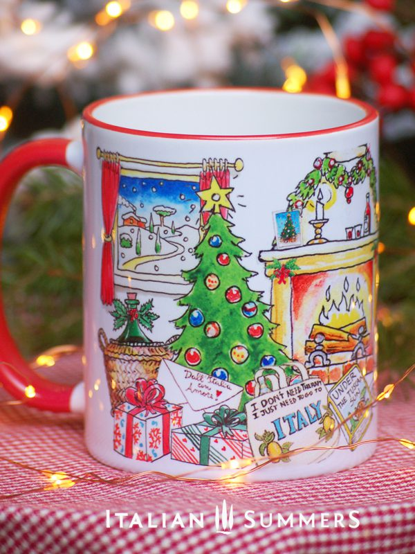 Italian Christmas mug JUST WANT TO GO TO ITALY by Italian SummersI