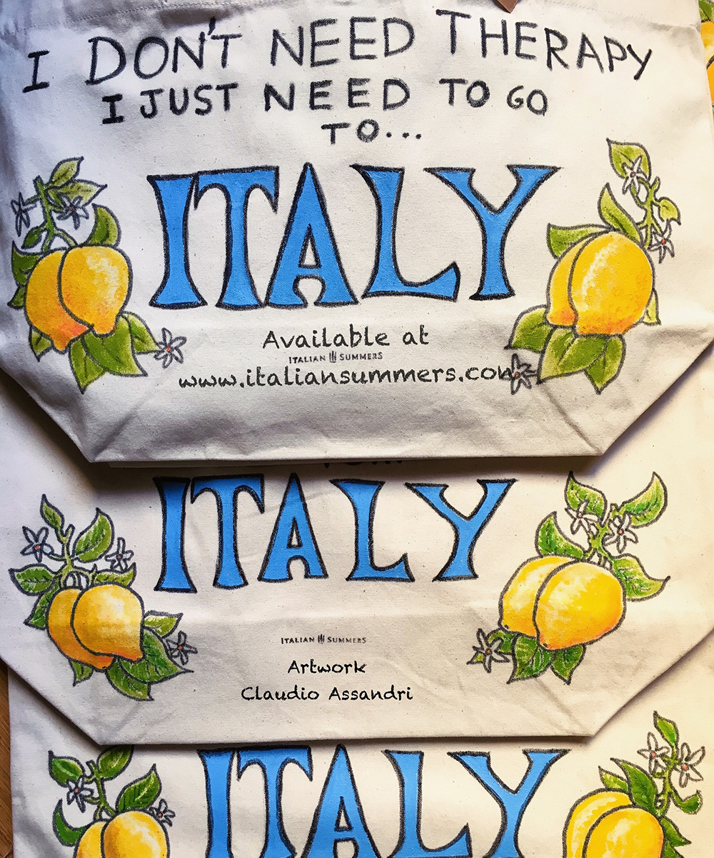 I don't need therapy, I just need to go to Italy bag by Italian Summers