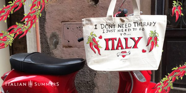 Italian Christmas gifts, I just need to go to Italy bag by Italian Summers. XMAS