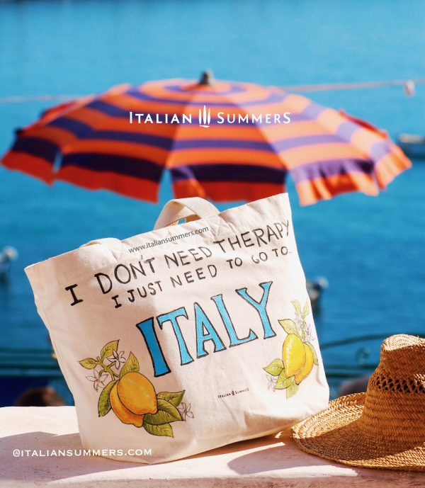 I don't need therapy, I just need to go to Italy tote bag by Italian Summers