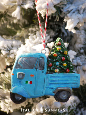 Italian Christmas tree ornament BLUE MOTOAPE by Italian Summers