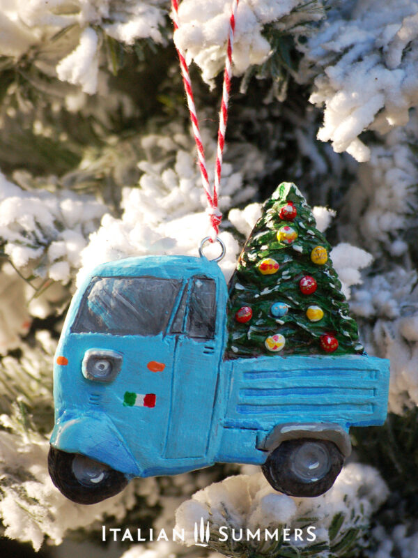 Italian Christmas tree ornament BLUE MOTOAPE by Italian Summers