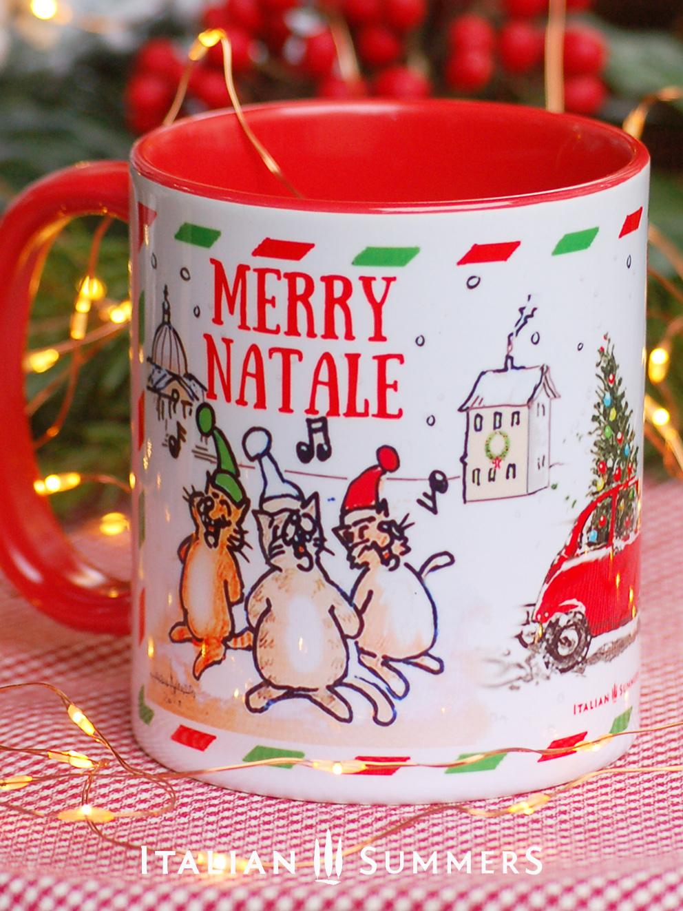 Italian Christmas Mug Postcard