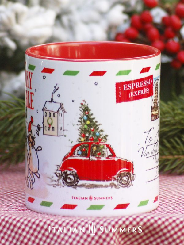 ITALIAN POSTCARD Italian Christmas coffee mug by Italian Summers