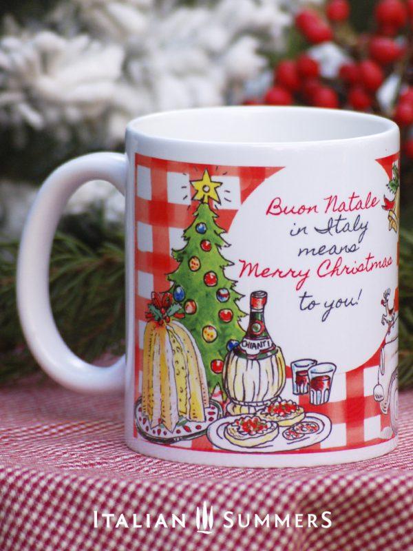 ITALIAN SANTA C hristmas Coffee mug by Italian Summers