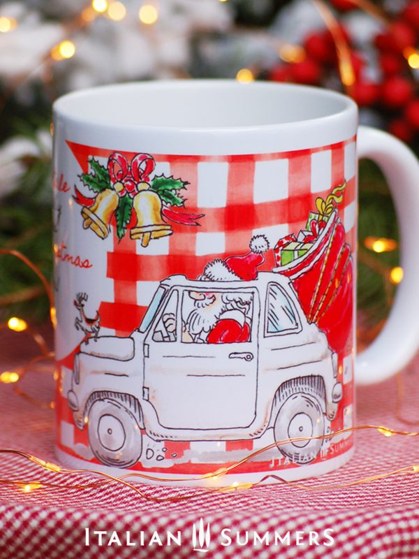 ITALIAN SANTA Christmas coffee mug by Italian Summers