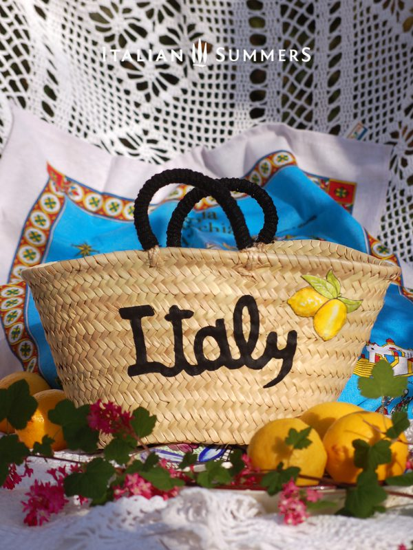 ITALY LEMONS straw Bag by Italian Summers