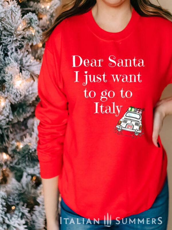 Italian Christmas Sweatshirt DEAR SANTA by Italian Summers
