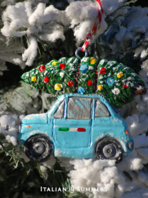 Christmas Ornament BLUE CINQUECENTO by Italian Summers.