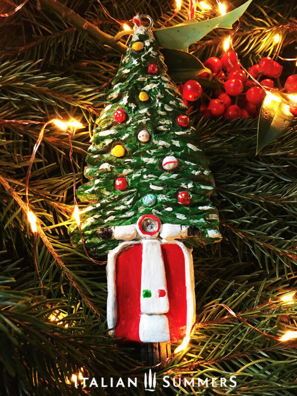 Italian Christmas Tree Ornament RED VESPA by Italian Summers