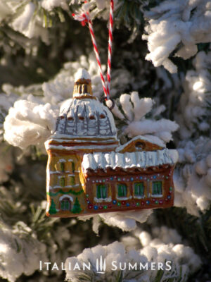 Italian Christmas Ornament SNOWY ROOVES OF ITALY by Italian Summers
