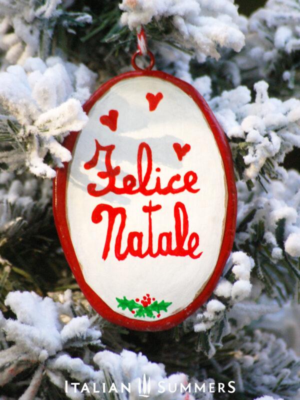 Italian Christmas Ornament VINO E CAMINO by Italian Summers