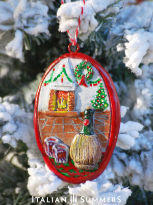 Italian Christmas Ornament VINO E CAMINO by Italian Summers
