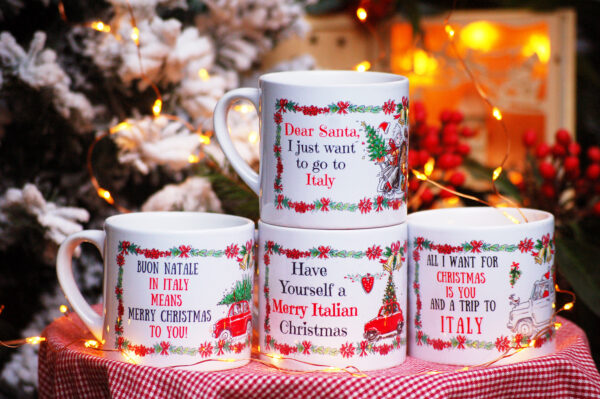 Italian Christmas cappuccino cup set 2 By Italian Summers