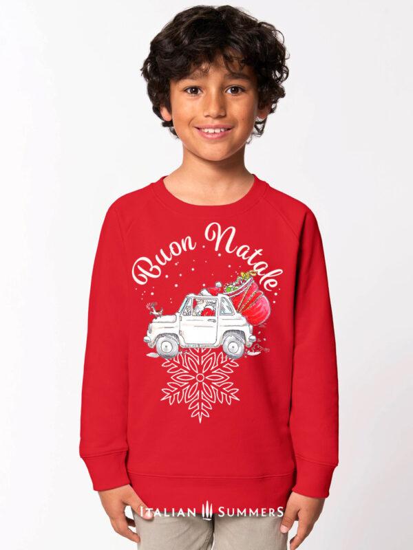 Italian Christmas kids sweatshirt ITALIAN SANTA by Italian Summers