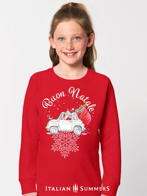Italian Christmas kid sweatshirt ITALIAN SANTA by Italian Summers.