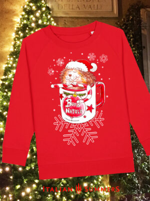 Italian Christmas kids sweatshirt PINO IL PORCOSPINO by Italian Summers