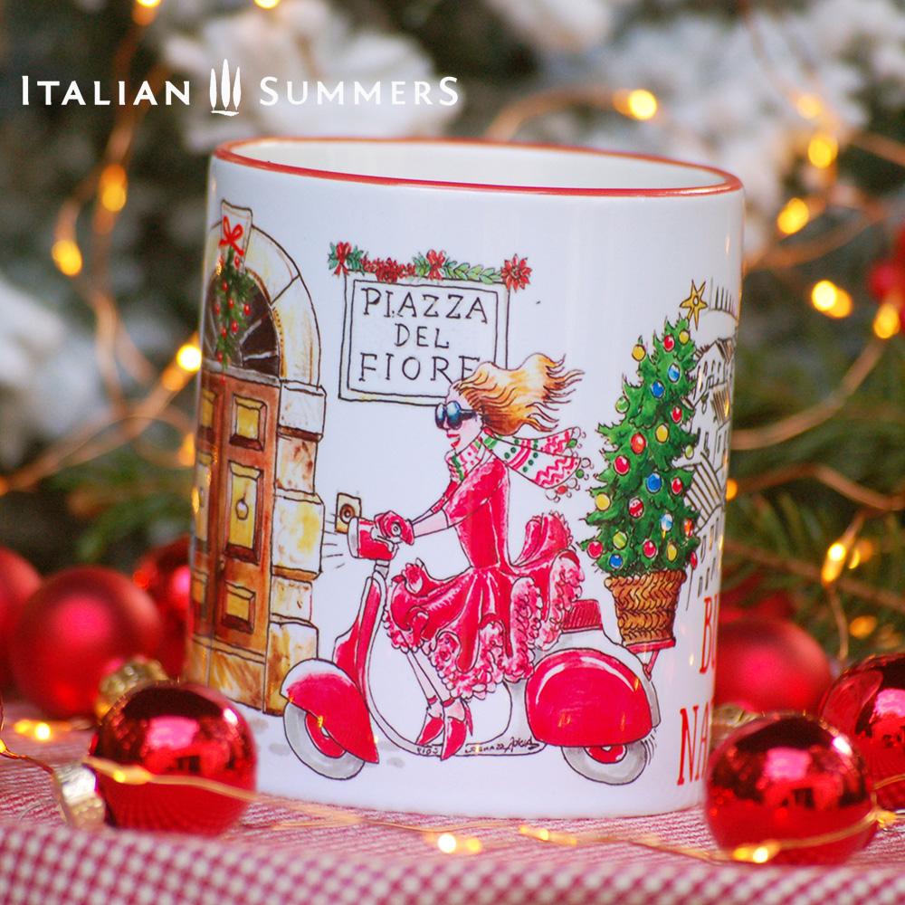 Italian Christmas mug DOLCE DIVA by Italian Summers square WEB