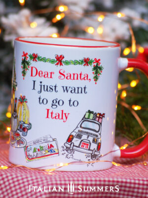 Italian Christmas mug I JUST WANT TO GO TO ITALY by Italian Summers