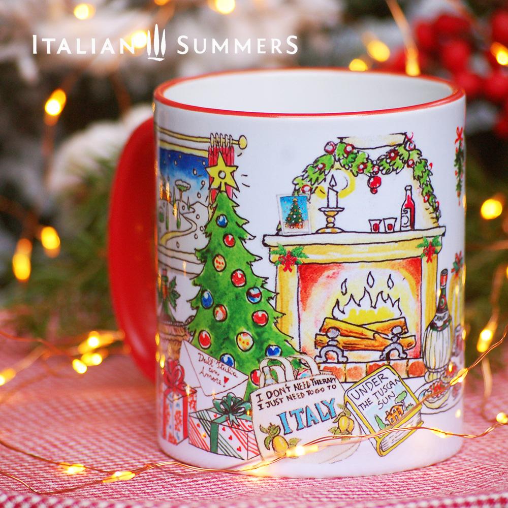 Italian Christmas mug I JUST WANT TO GO TO ITALYby Italian Summers