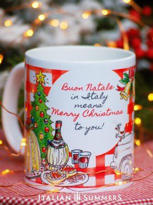 Italian Christmas mug ITALIAN SANTA by Italian Summers