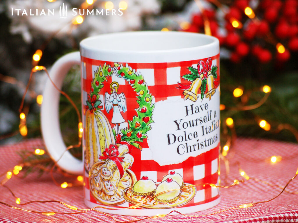 Italian Christmas mug PANE E DOLCE by Italian Summers