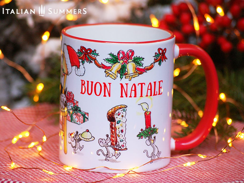 Italian Christmas mug IT WAS THE NIGHT BEFORE CHRISTMAS by Italian Summers