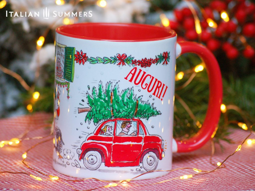 Italian Christmas mug VESPA CATS by Italian Summers