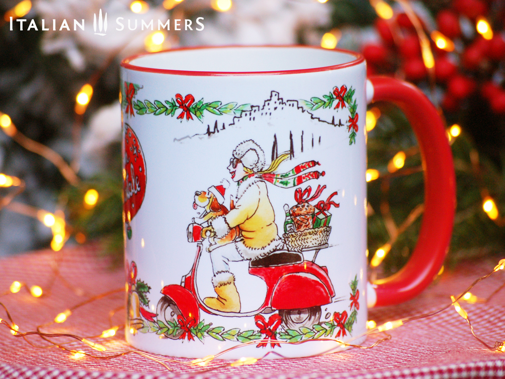 Italian Christmas mug VESPA GIRL by Italian Summers