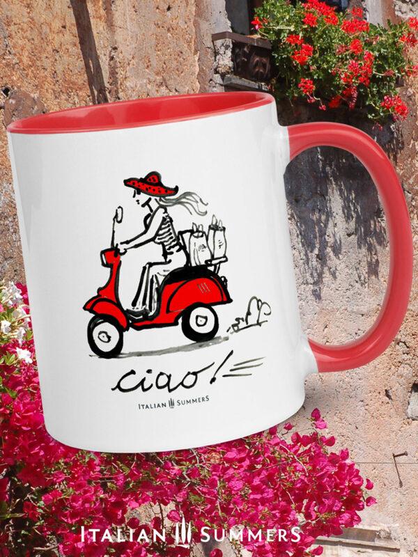 Italian Mug VESPA CIAO by Italian Summers