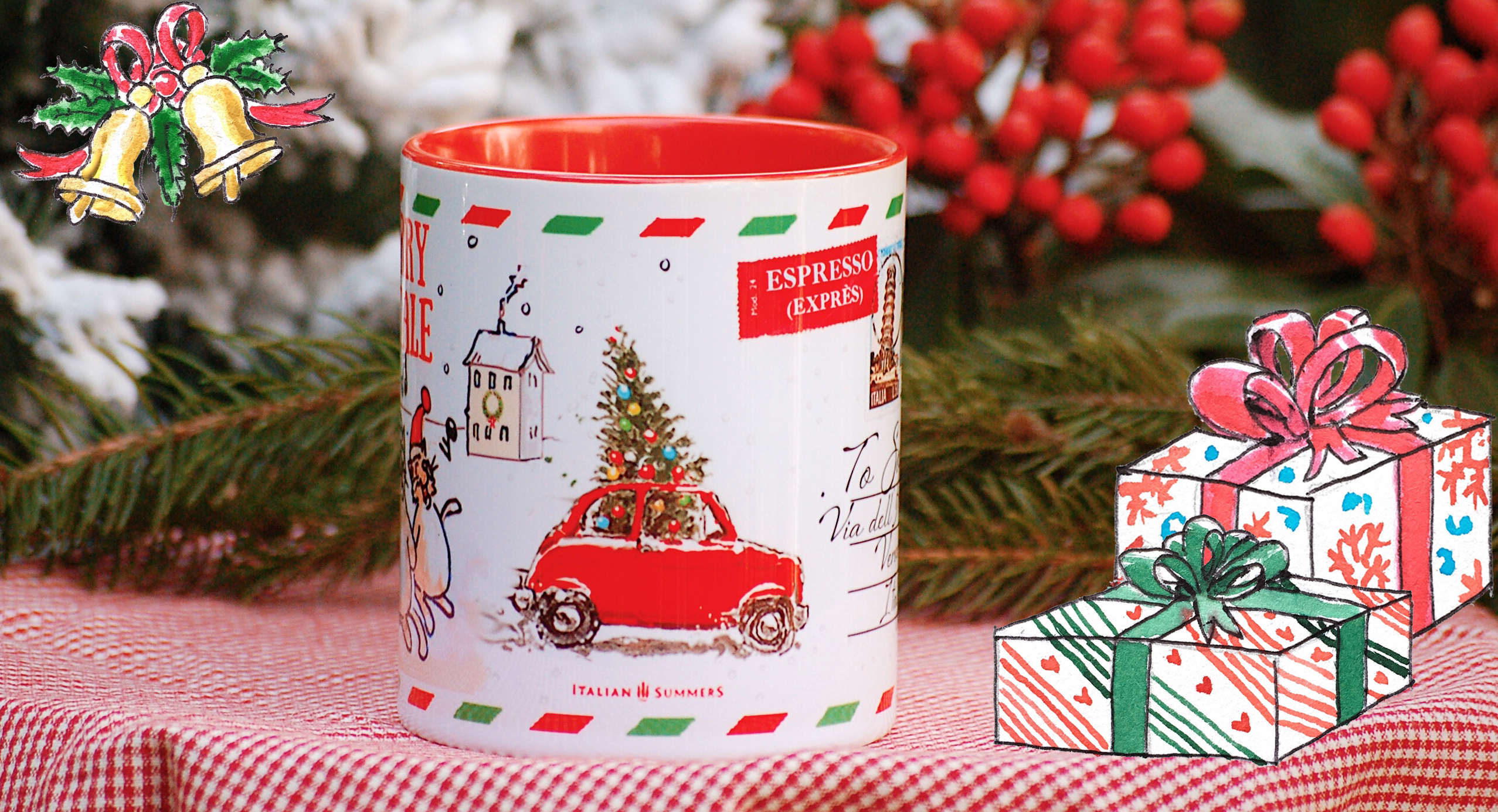 Italian Postcard christmas mug by Italian Summers