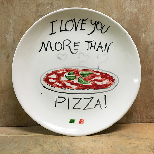 Italian Plate Love You More Than Handpainted Ceramic Plate Sold Out