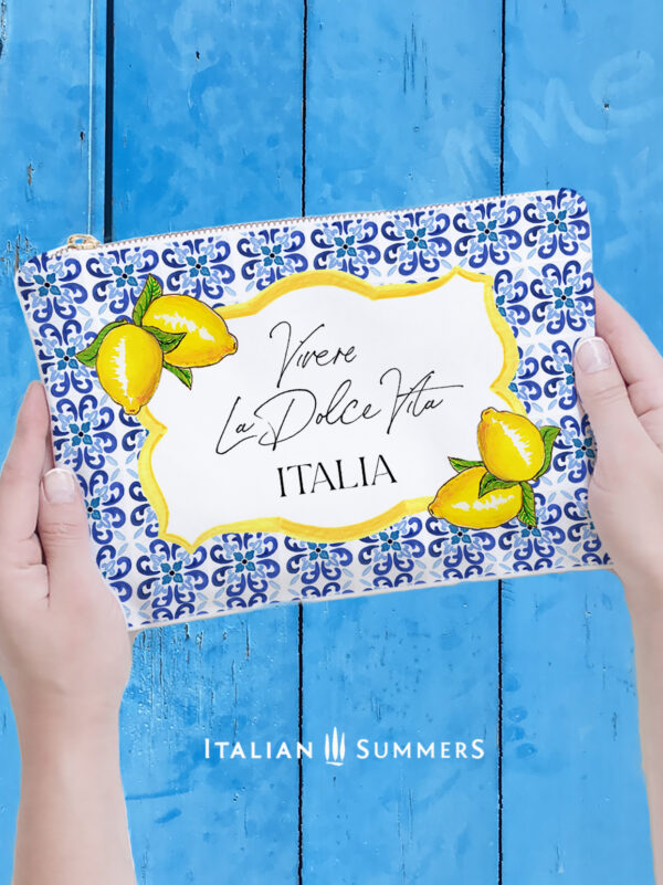 Clutch DOLCE VITA Italy tiles by Italian Summers