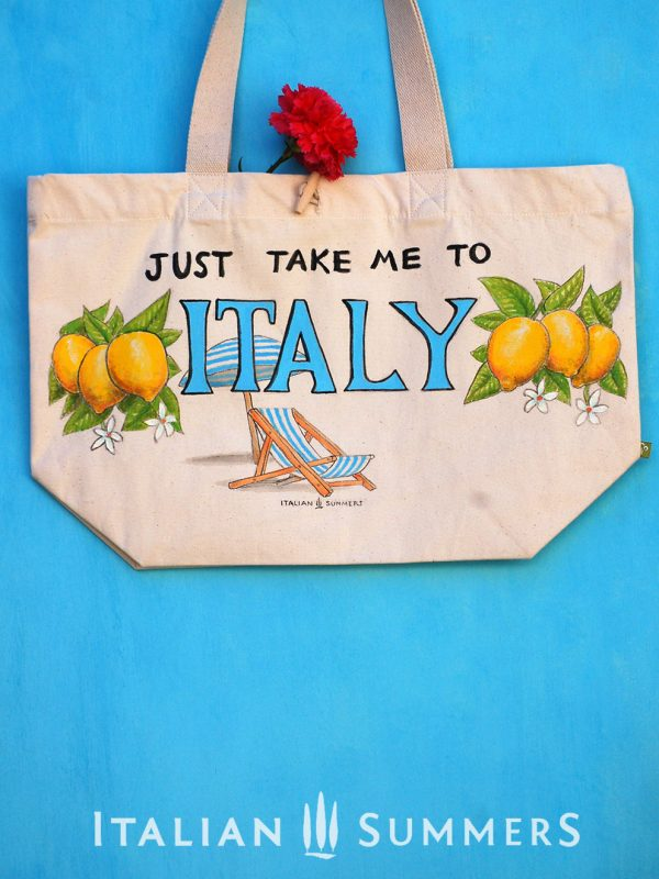 JUST TAKE ME TO ITALY LEMONS TOTE by Italian Summers