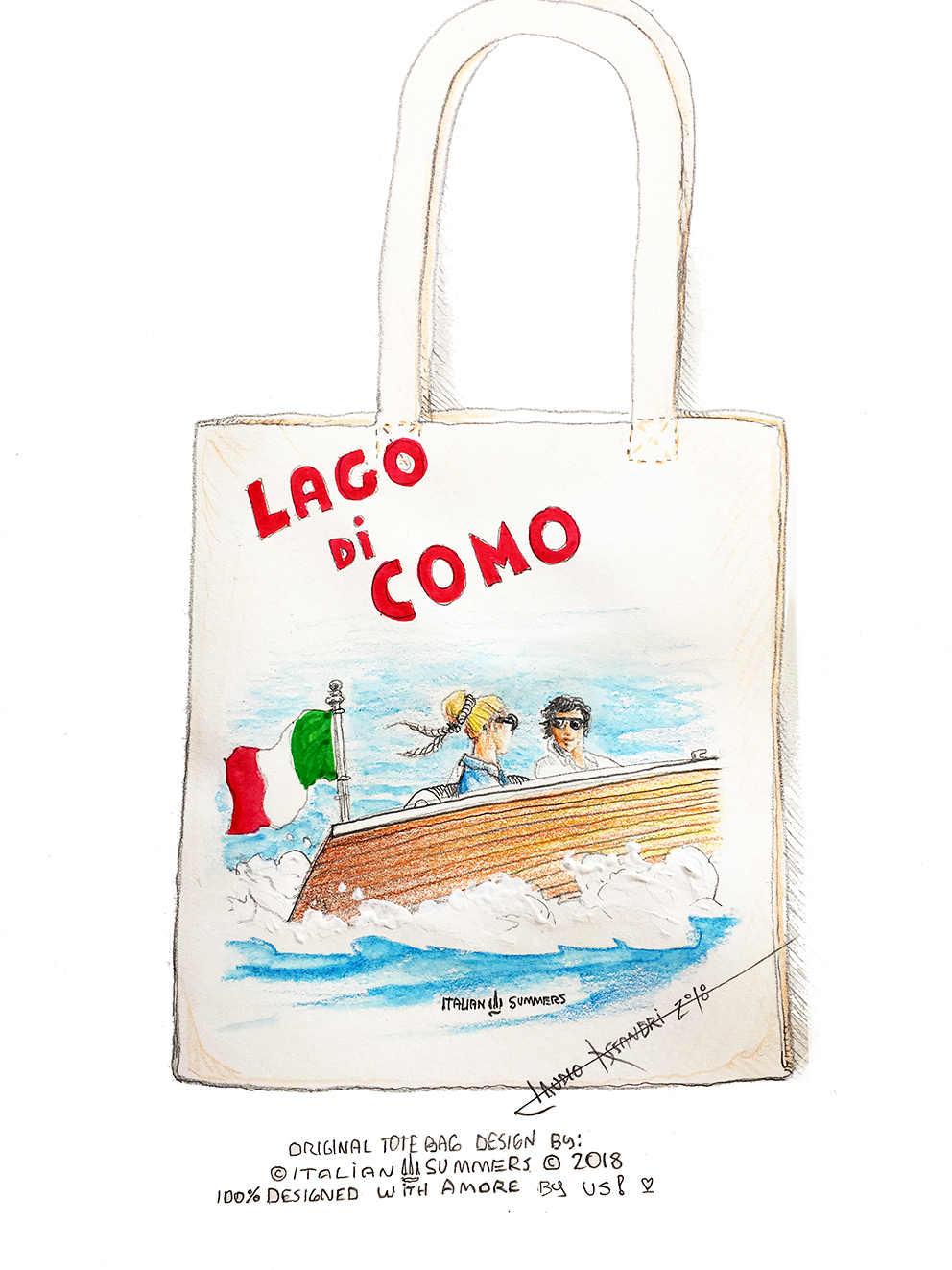 Lake Como Wedding bridal welcome bag by ITALIAN SUMMERS