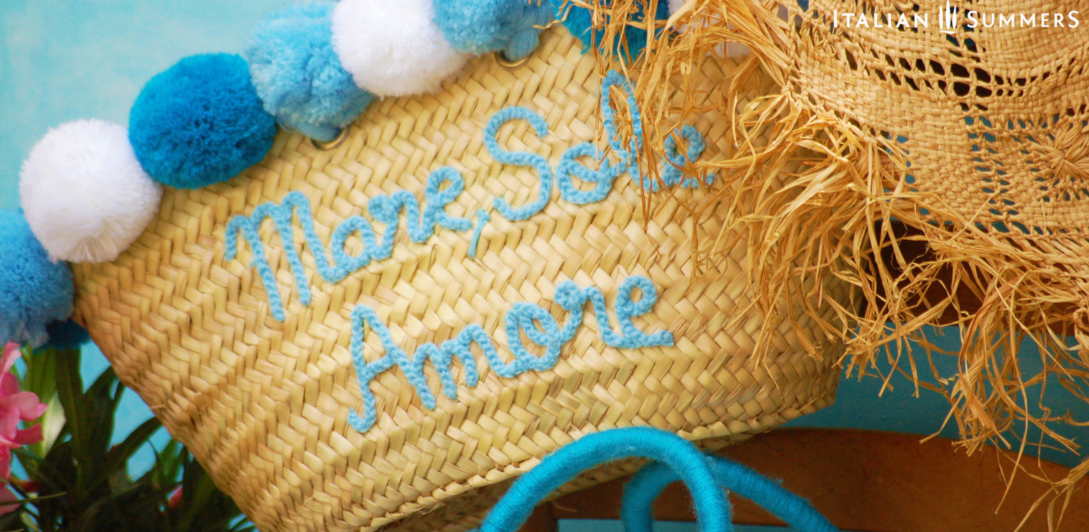 MARE SOLE AMORE Straw bag by Italian Summers