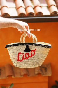 Straw bag CIAO BY Italian Summers French straw bag Ciao