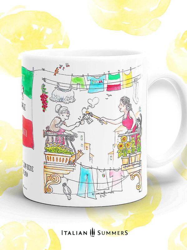Mug Andra tutto bene CAFFE AMORE E FANTASIA by Italian Summers